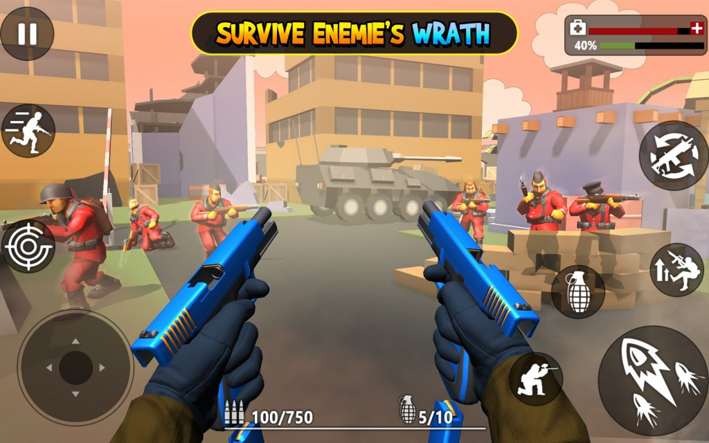 download Pixel Battle Toon game on United State server